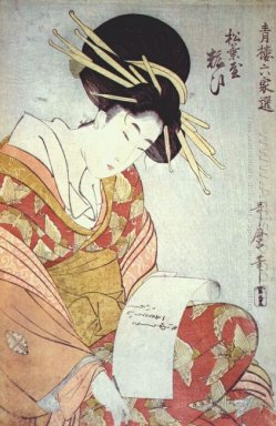 Courtesan Writing A Letter