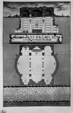 The Roman Antiquities T 2 Plate Xliii Plan And Elevation Of A Bu