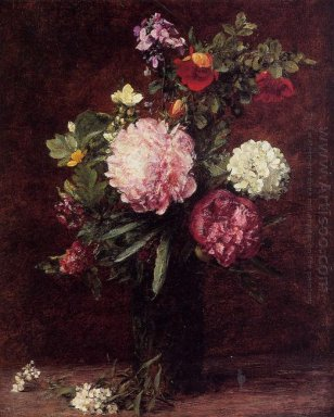 Flowers Large Bouquet With Three Peonies 1879