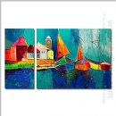 Hand-painted Landscape Oil Painting - Set of 2