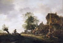 Travellers Outside an Inn