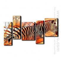 Hand-painted Oil Painting Abstract - Set of 5