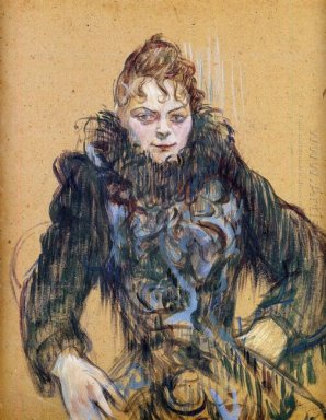 Woman With A Black Boa 1892