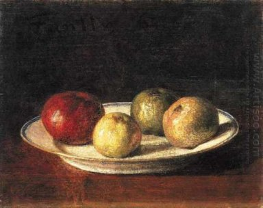 A Plate Of Apples 1861