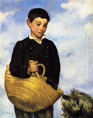 a boy with a dog 1861