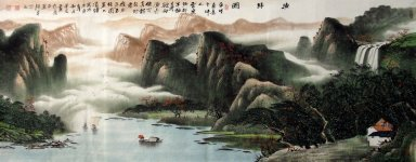 Mountains, water - Chinese Painting