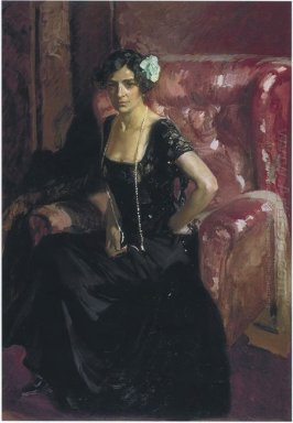 Clotilde In An Evening Dress 1910