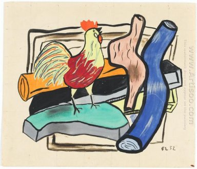 Rooster And Logs 1952