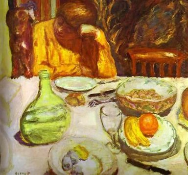 Carafe Marthe Bonnard With Her Dog 1915
