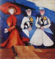 three female figures 1910