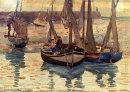 Small Fishing Boats Treport France 1894