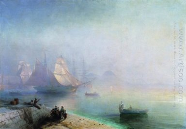 The Bay Of Naples On Misty Morning 1874