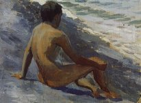 Boy At The Seashore 1895