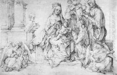 studies on a great picture of the virgin madonna and child saint