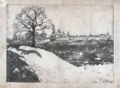 Sergiyev Posad View Of The Monastery With Oak 1923