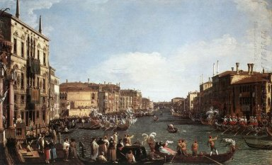 a regatta on the grand canal 1732