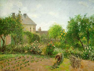 the artist s garden at eragny 1898