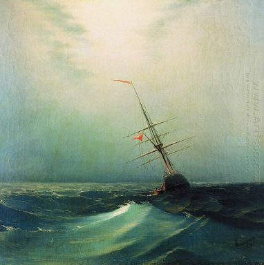 At Night Blue Wave 1876