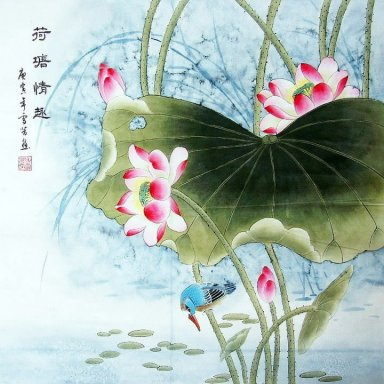 Lotus&Bird - Chinese Painting