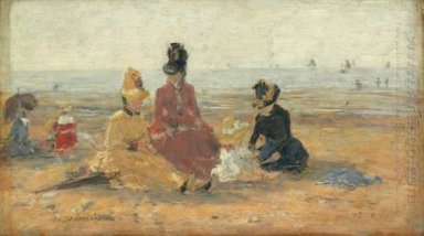 On The Beach Trouville 1887