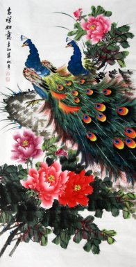 Peacock(Four Feet)Vertical - Chinese Painting