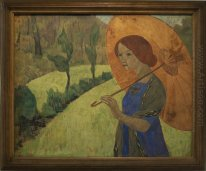 Madame Serusier With A Parasol 1912