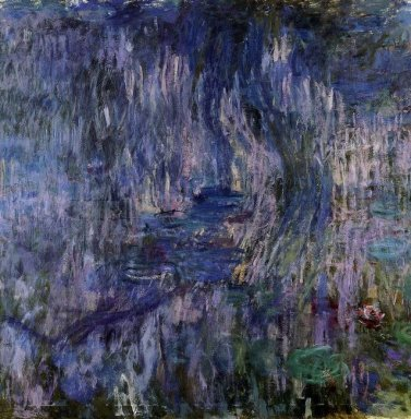 Water Lilies Reflection Of A Weeping Willows 1919