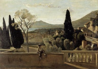 View Of Tivoli After Corot