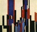 Vertical Plains Blue And Red 1913