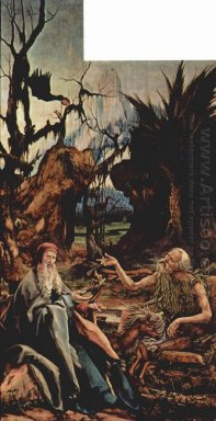 St Anthony Visiting St Paul The Hermit In The Desert Left Wing O