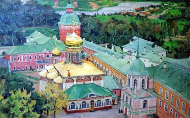 Troitsky Cathederal In Troitse Sergiyev Monastery