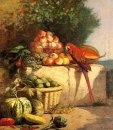 Fruit And Vegetables With A Parrot 1869