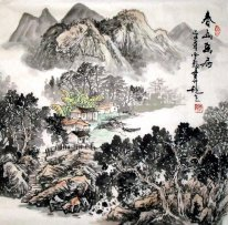 Moutain and Cabin - Xiaowu - Chinese Painting