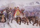 Big Masquerade In 1772 On The Streets Of Moscow With The Partici