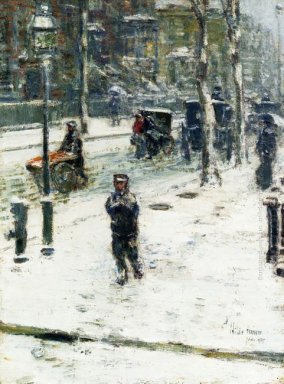 Snow Storm Fifth Avenue 1907