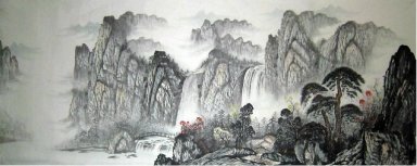 Thousands of mountains - Chinese Painting