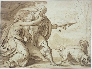 Adonis held back by Venus while going hunting
