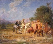 Arab Horsemen Near Themausoleum 1907