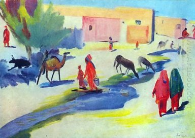 Street And The Ditch In Ashgabat 1934