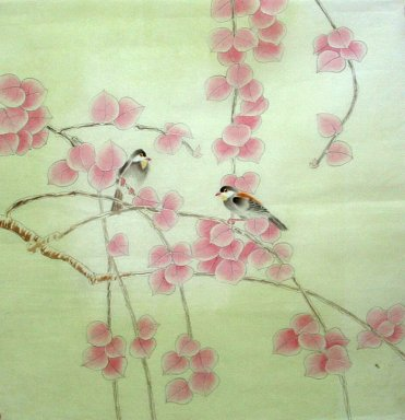 Birds&Leaves - Chinese Painting