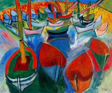 Boats At Martigues 1908