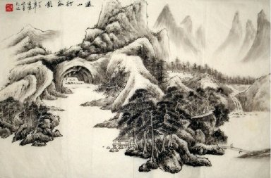 Moutains and river - Chinese Painting