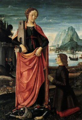 St Barbara Crushing Her Infidel Father