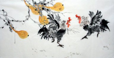 Chicken&Groud - Chinese Painting