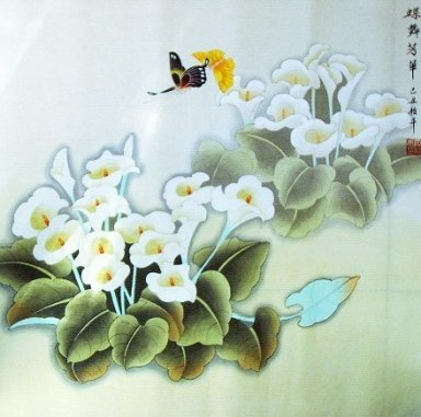 Drgonfly&Flowers - Chinese Painting