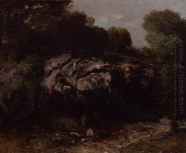 Rocky Landscape With Figure 1865