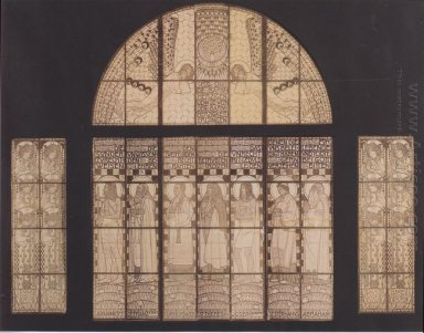 Church Am Steinhof Drawing Of Western Window