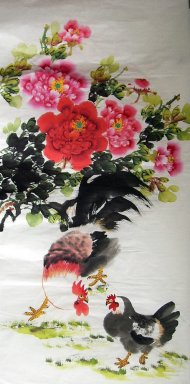 Chicken&Peony - Chinese Painting