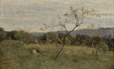 Landscape With Peasant Girl 1861