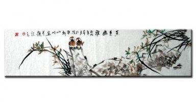 Birds&folwer-Hong elegant color - Chinese Painting